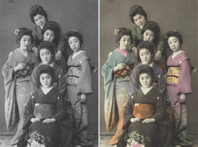 coloring old black and white photo in photoshop 25 best photoshop works