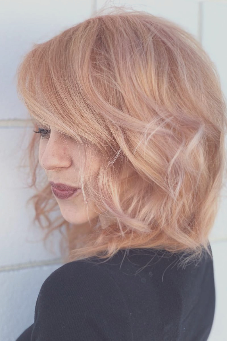 strawberry blonde hair