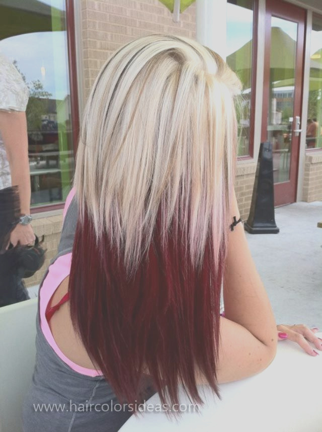 blonde hair with red highlights hair color ideas