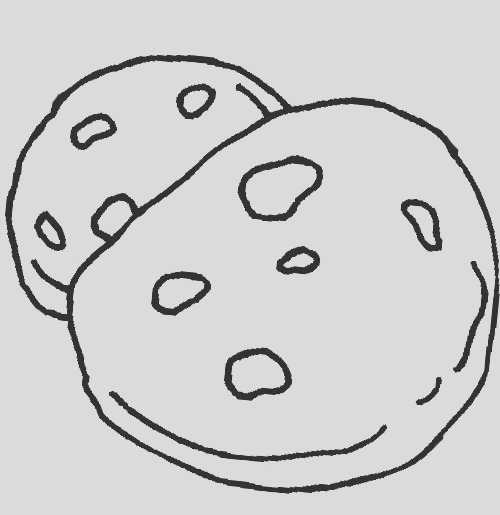 cookie coloring pages