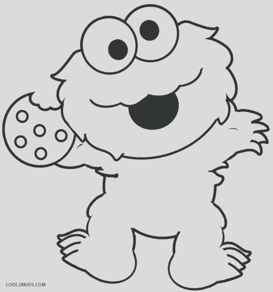 baby cookie monster drawing