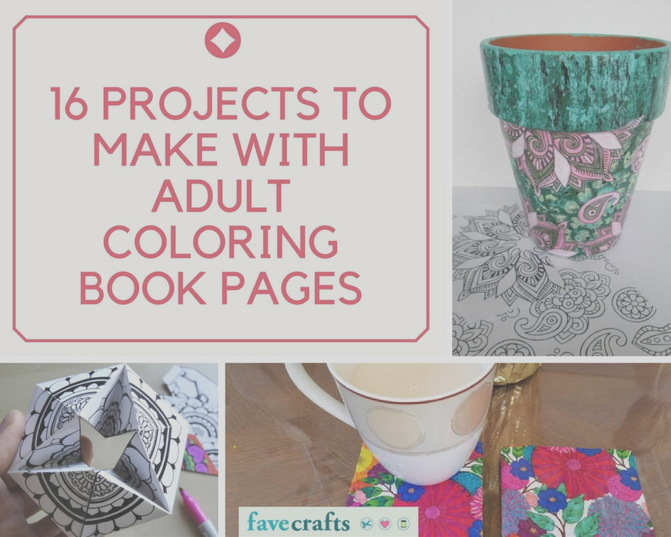Projects to Make with Adult Coloring Book Pages
