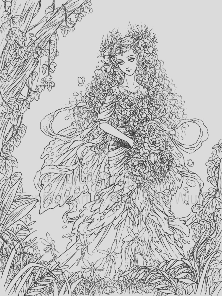 fantasy coloring pages for adult