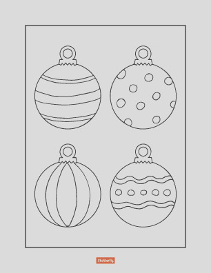ornament pages for preschoolers sketch templates