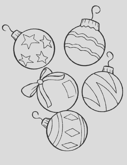 Christmas Ornament Coloring Pages part 5