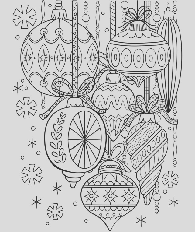 classic glass ornaments coloring page