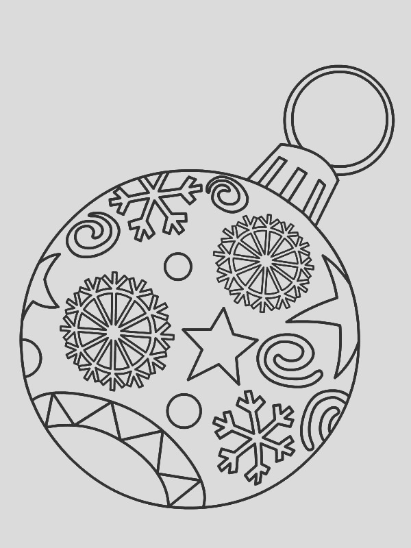 christmas ornament light bulb coloring pages 2