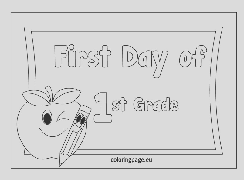 first grade coloring pages free