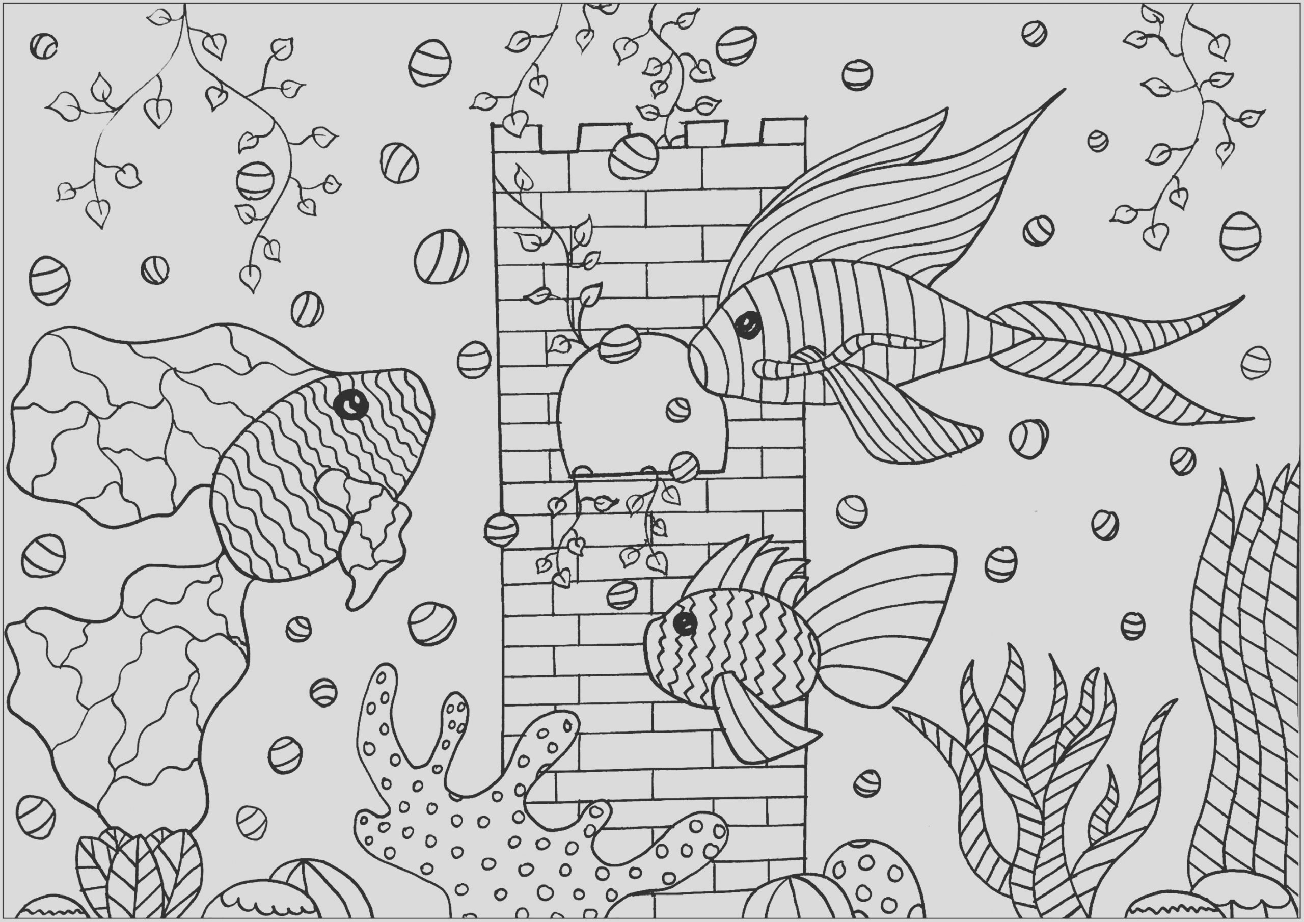 image=fishes coloring tree fishes in an aquarium 1