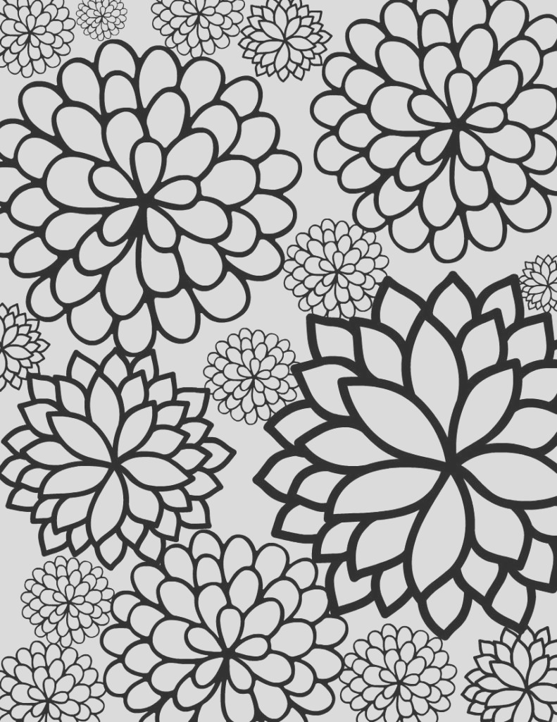 free printable bursting blossoms flower coloring page coloring pages for adults abstract flowers butterfly and flower coloring pages for adults