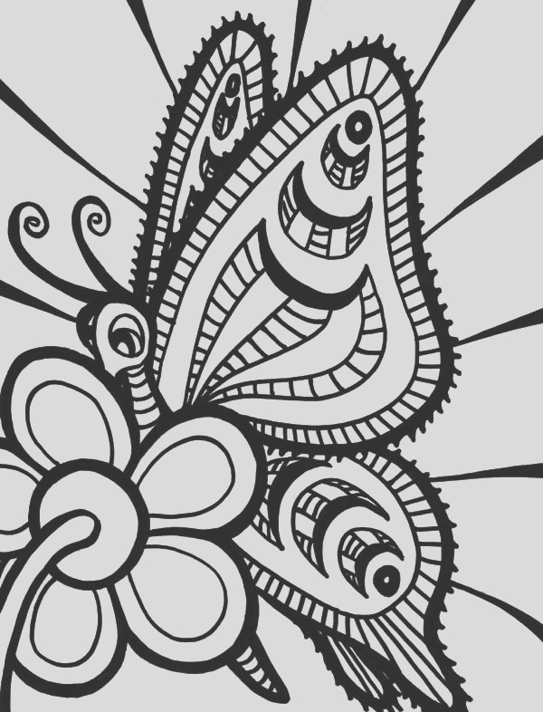 black hole abstract coloring pages