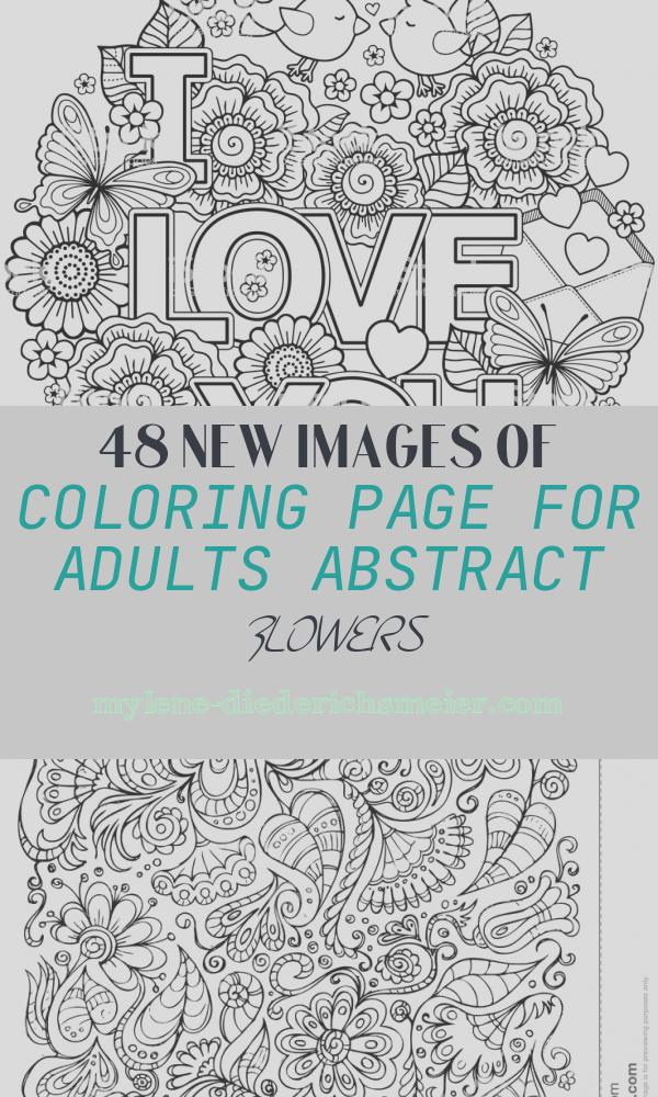 Coloring Page for Adults Abstract Flowers Lovely Vector Coloring Page for Adult Round Shape Made