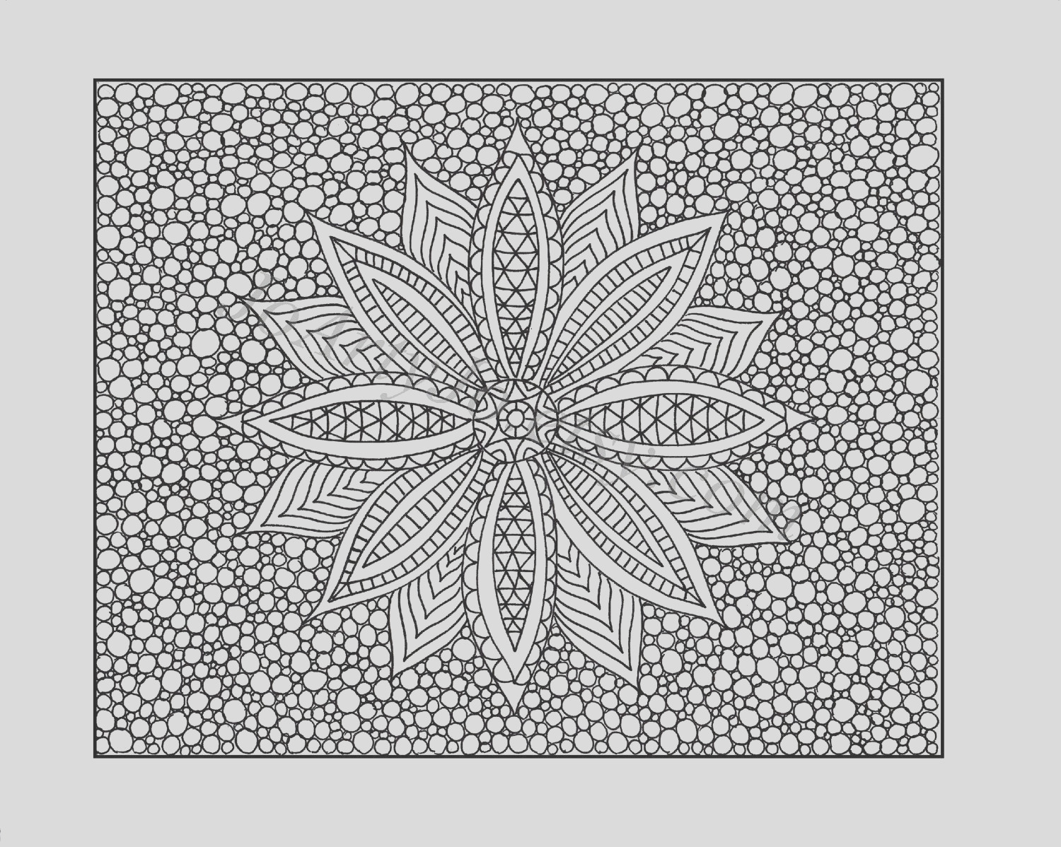 zentangle inspired coloring page pdf