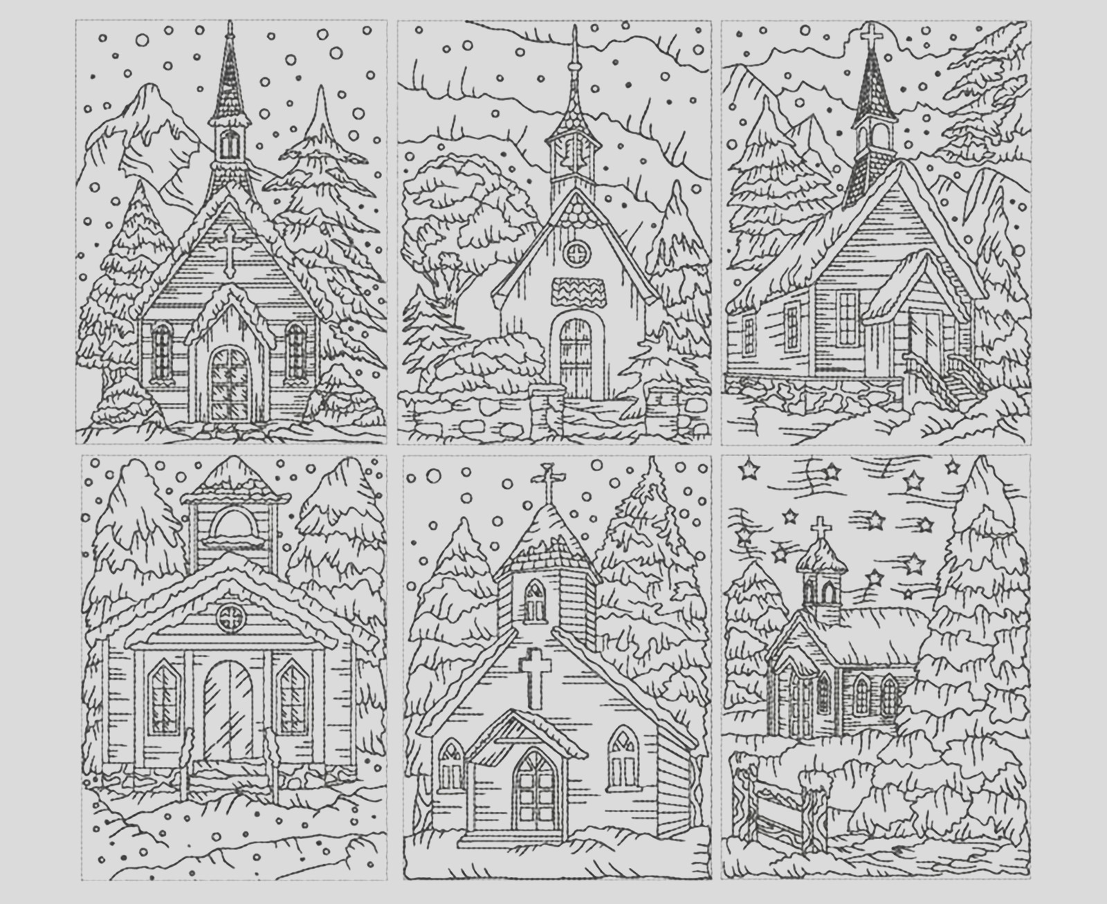 image=architecture home coloring adult church under the snow 1