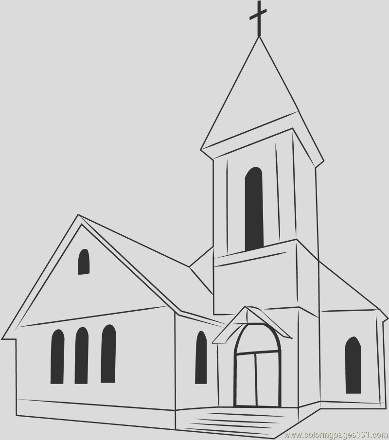 perfect church coloring page