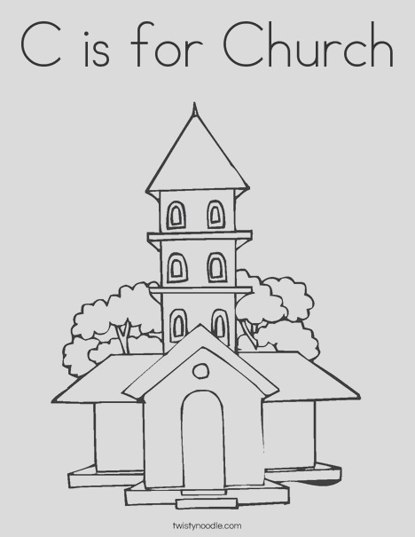 c is for church 5 coloring page