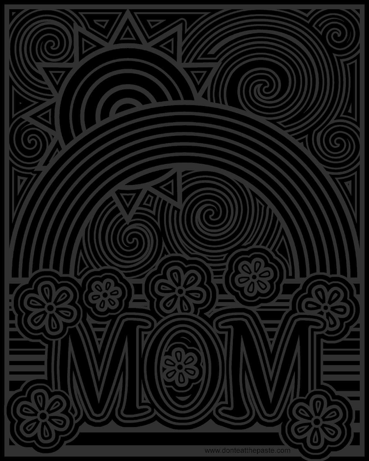 mom coloring page