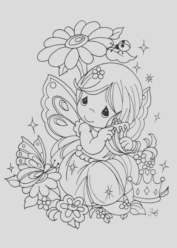 drawing fairy precious moments coloring