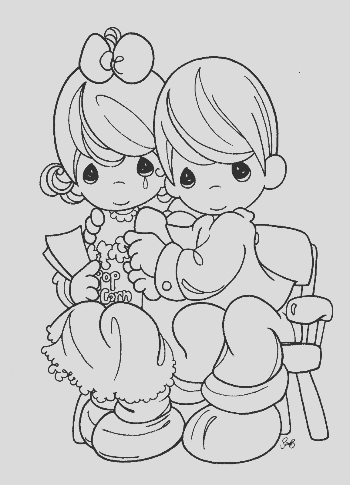 precious moments for love coloring