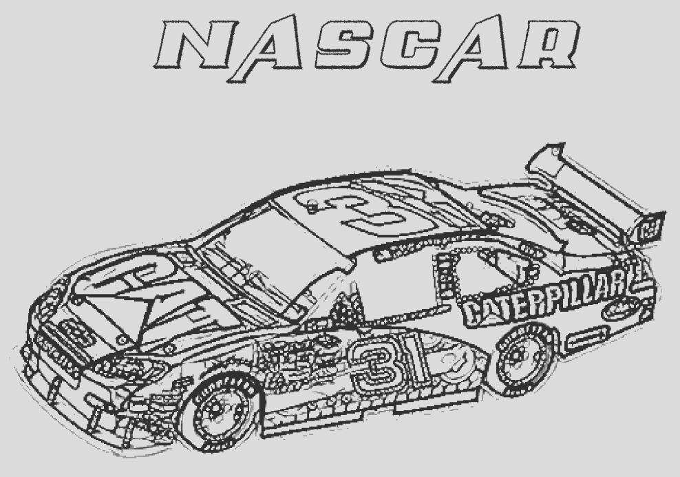 nascar coloring page