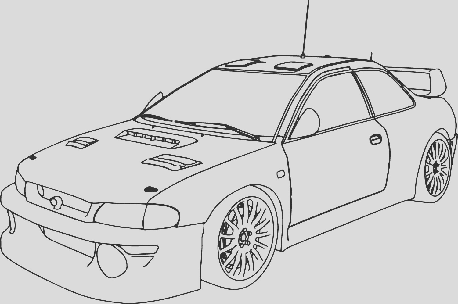 indy car coloring pages