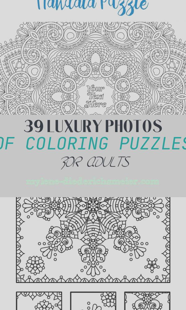Coloring Puzzles for Adults Awesome Pieceful Puzzle Personalised Adult Colouring Jigsaw