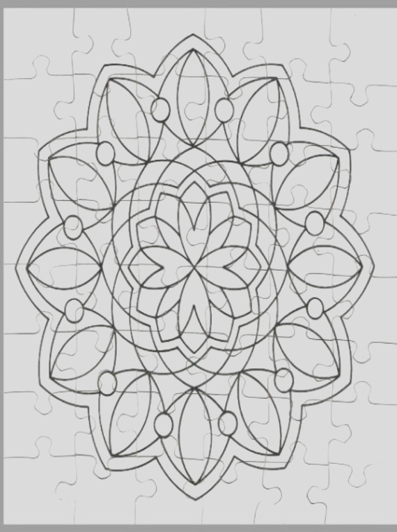 adult coloring puzzle jigsaw puzzle