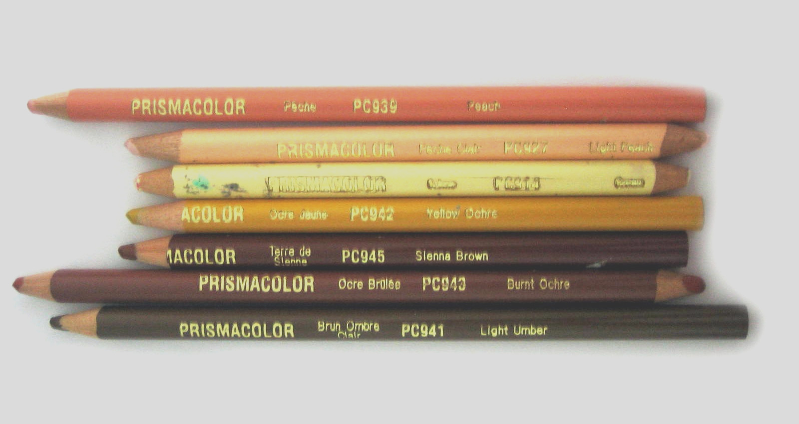 color guide skin toned pencils