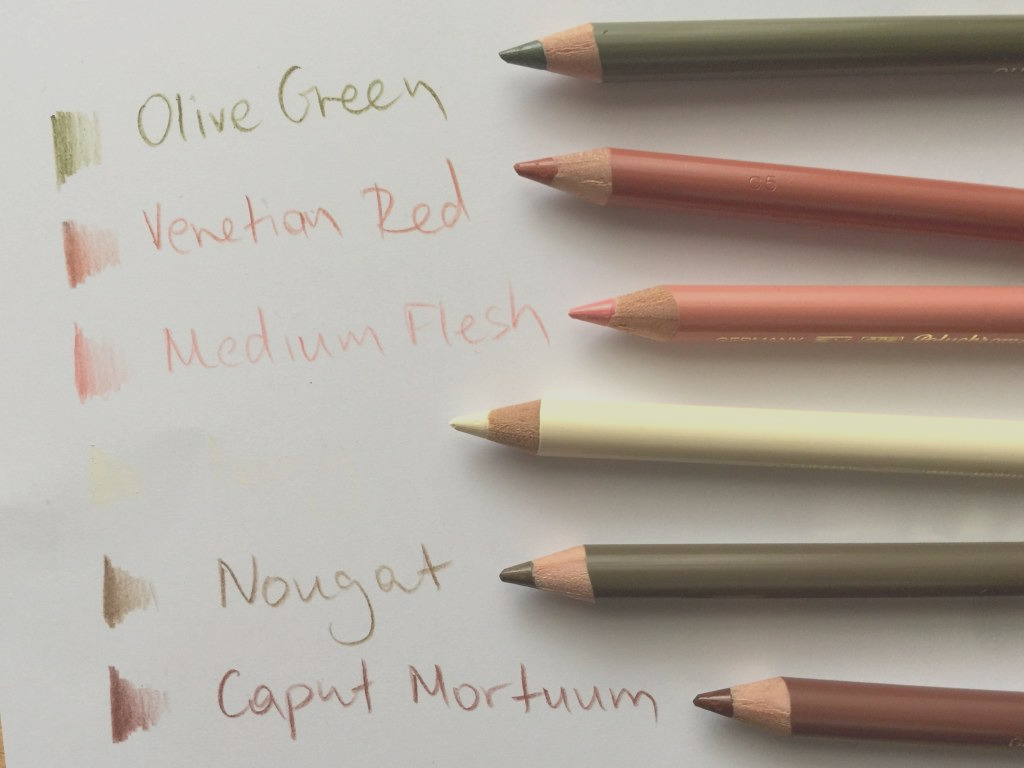 drawing skintones with colored pencils