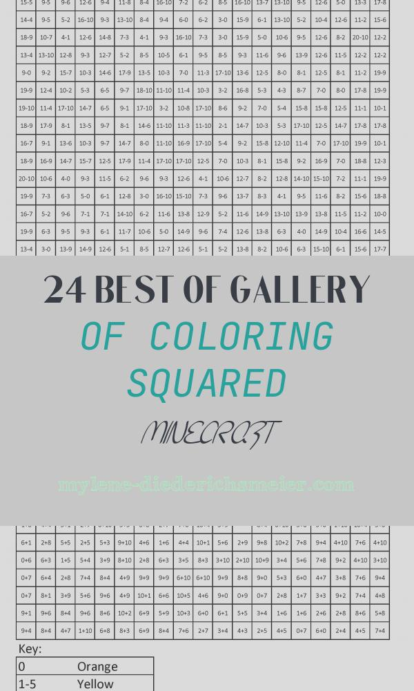 Coloring Squared Minecraft Beautiful Tnt Advanced Subtraction Coloring Squared