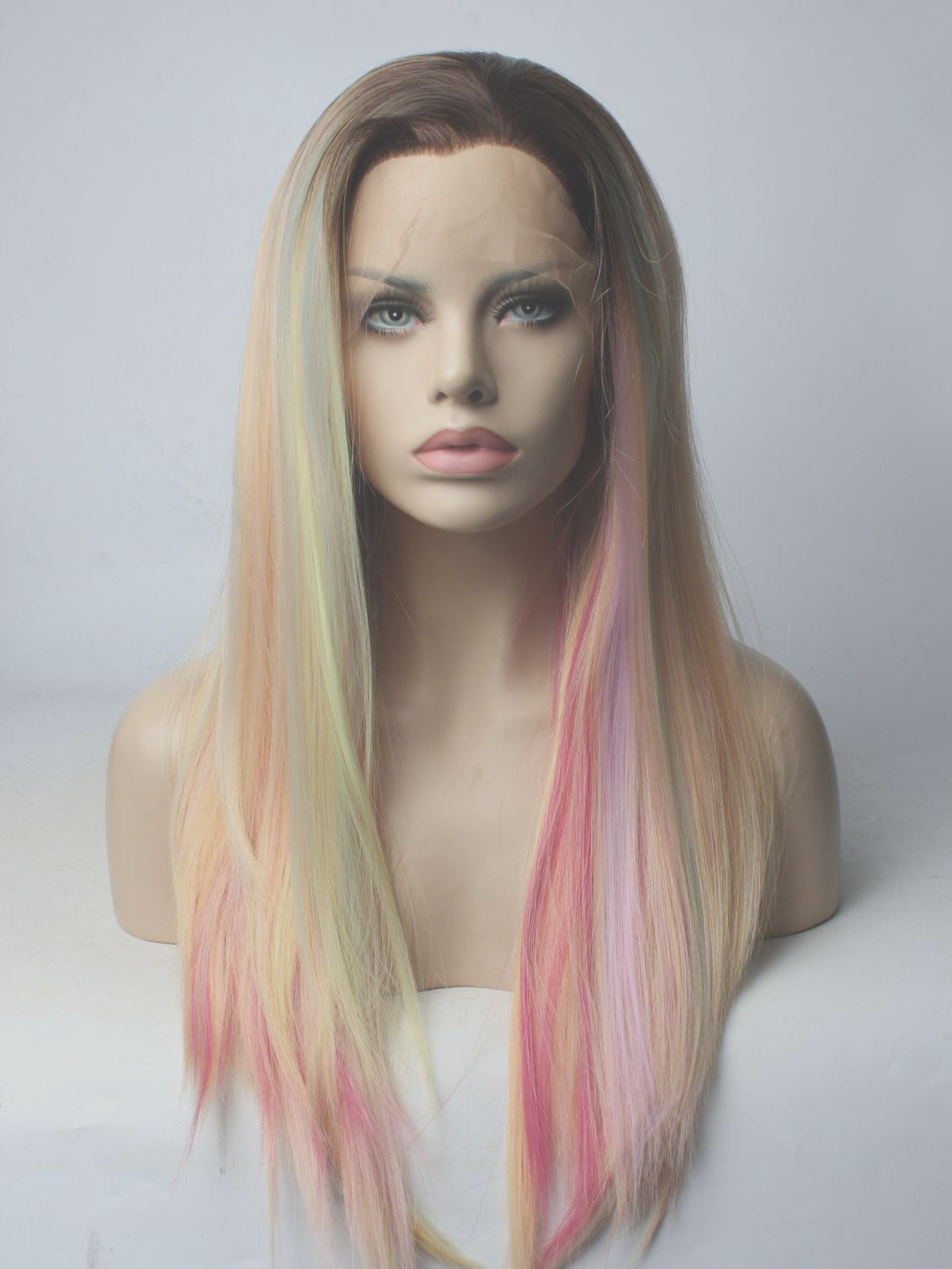 563 2018 new unicorn synthetic lace front wig