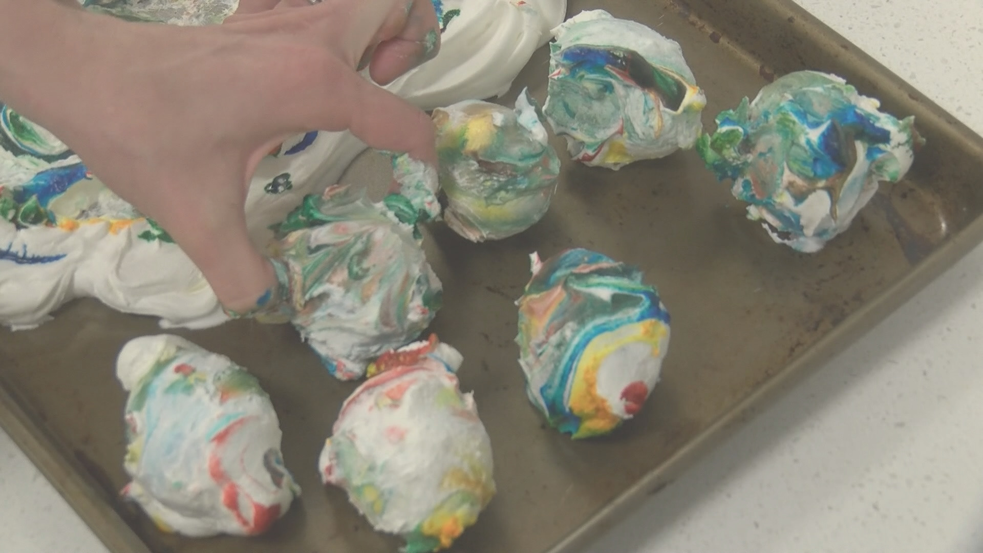 easter fun dyeing easter eggs cool whip makes marble effect