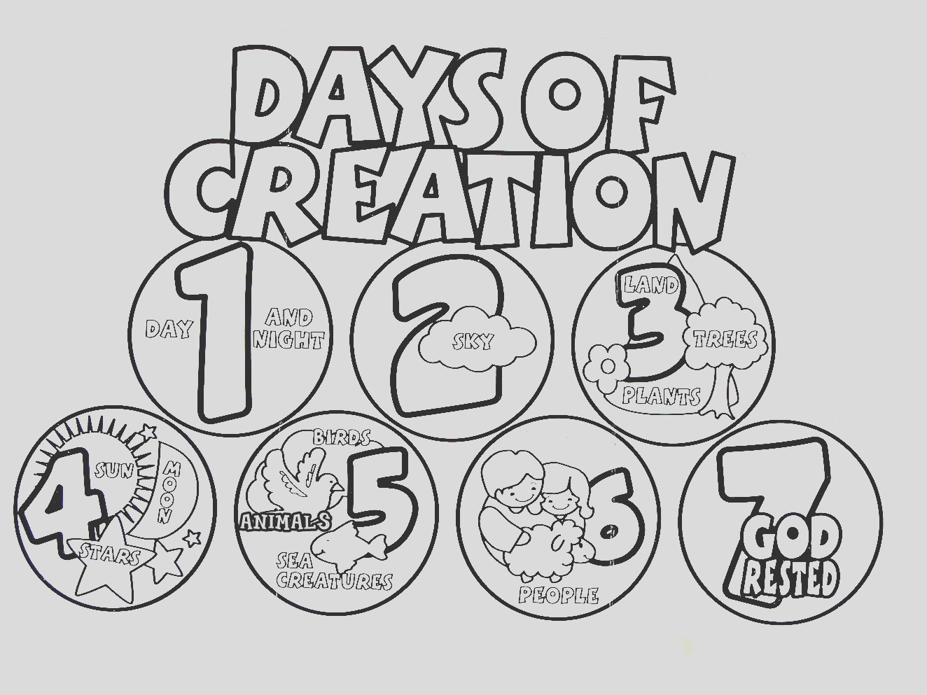 28 images of days of creation template 36