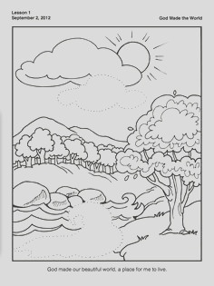 printable creation coloring pages