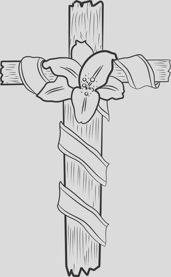 cross coloring page for kids