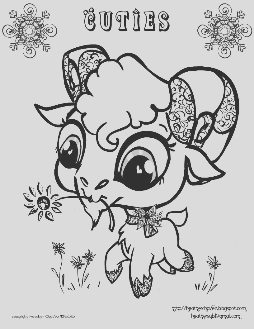 cuties free animal coloring pages