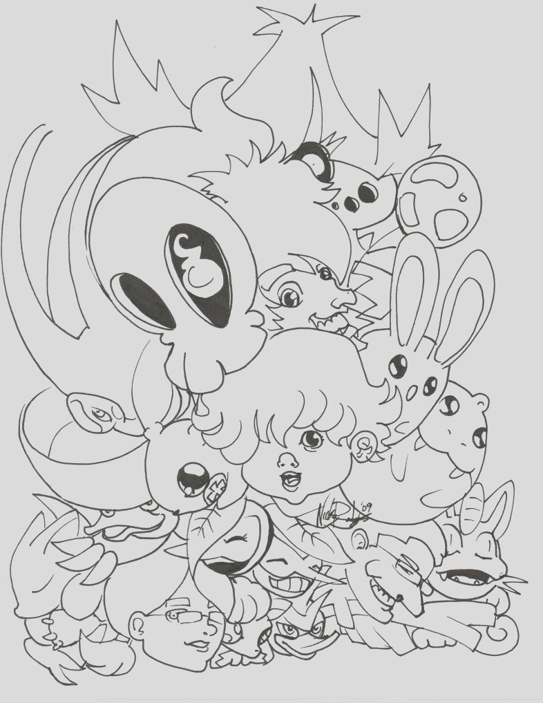 Cute PKMN Coloring Page Time