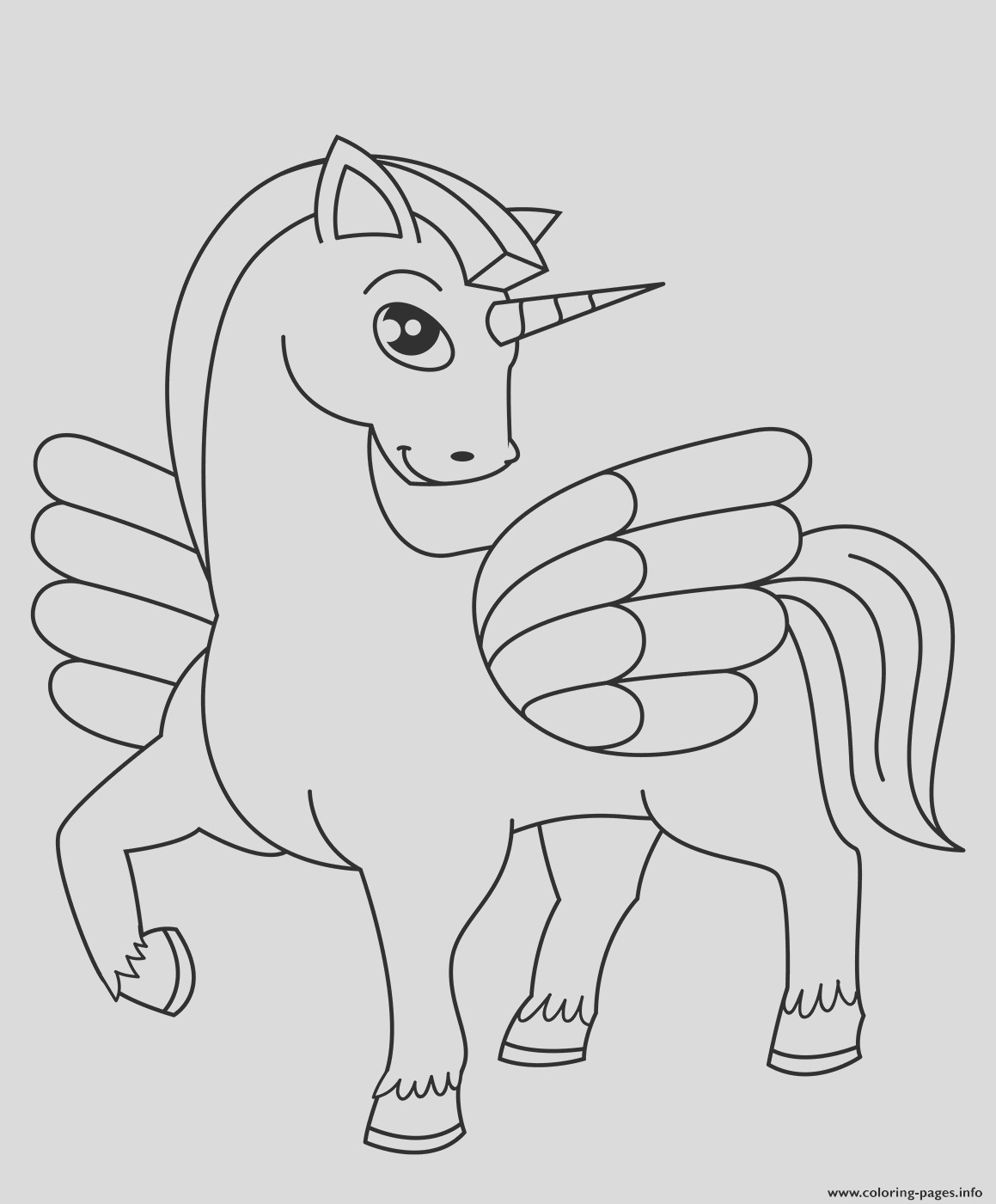 cute winged unicorn printable coloring pages book