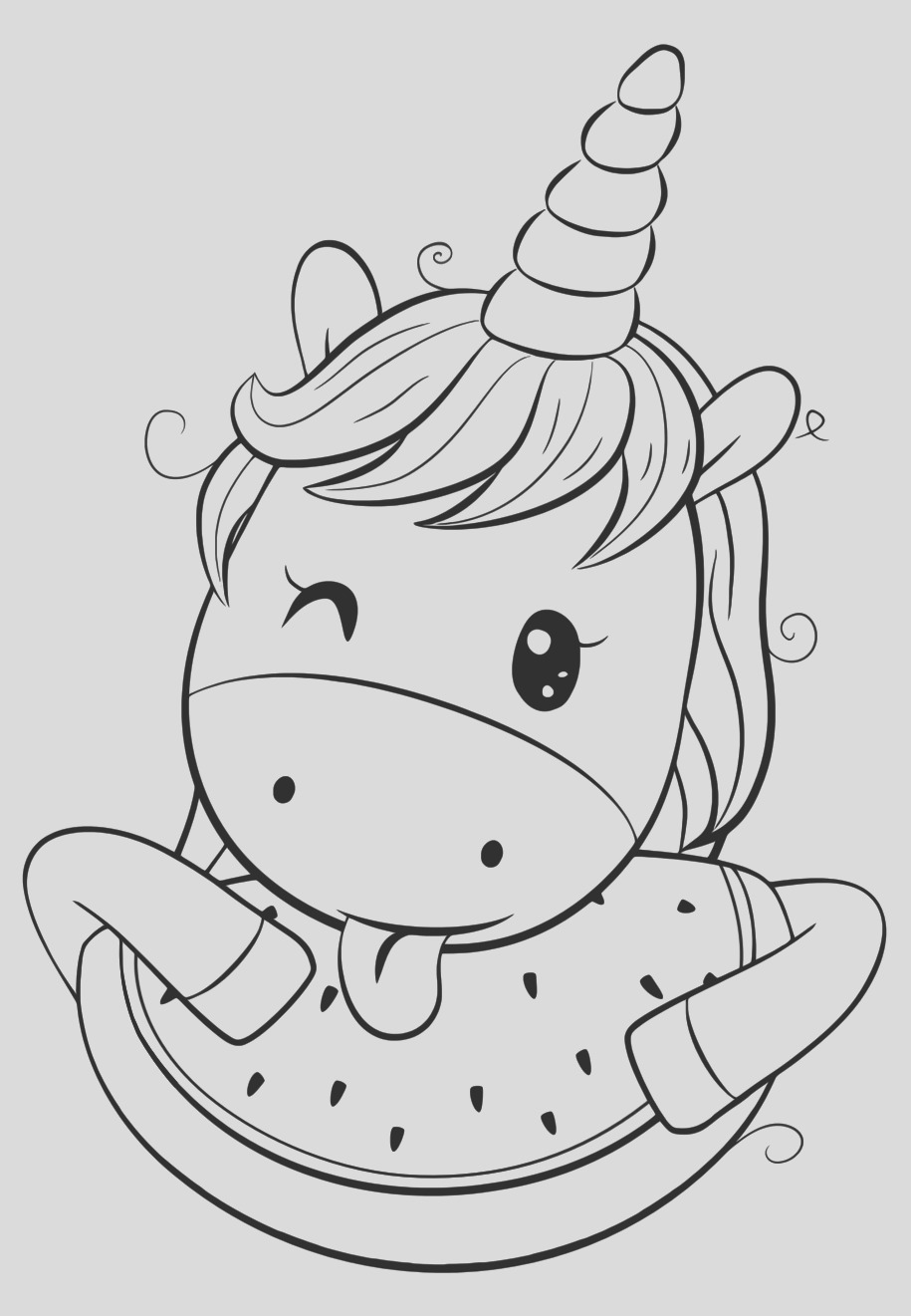 865 cute unicorn coloring pages