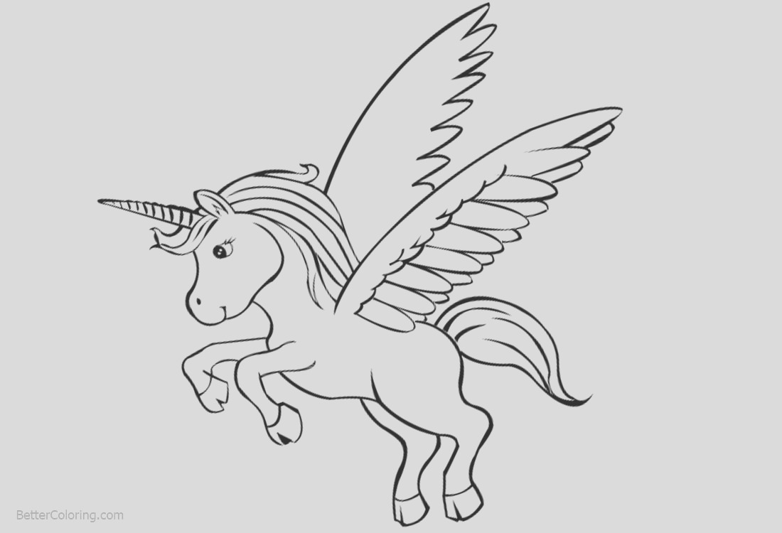 cute unicorn printable coloring pages