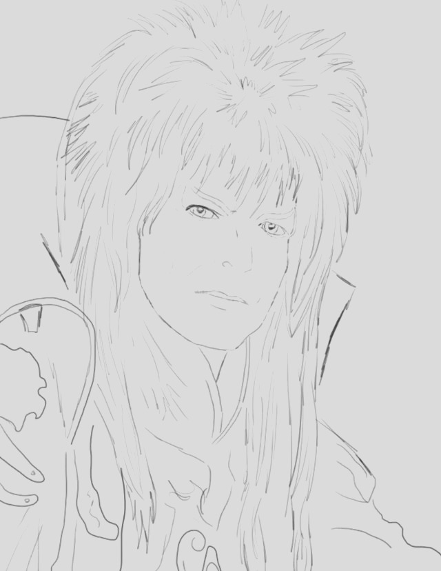 coloring david bowie labyrinth sketch templates