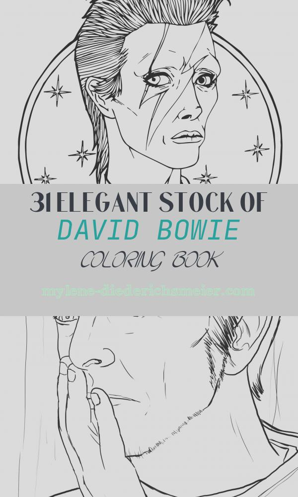 David Bowie Coloring Book New Download David Bowie Coloring Page by Austin Artist