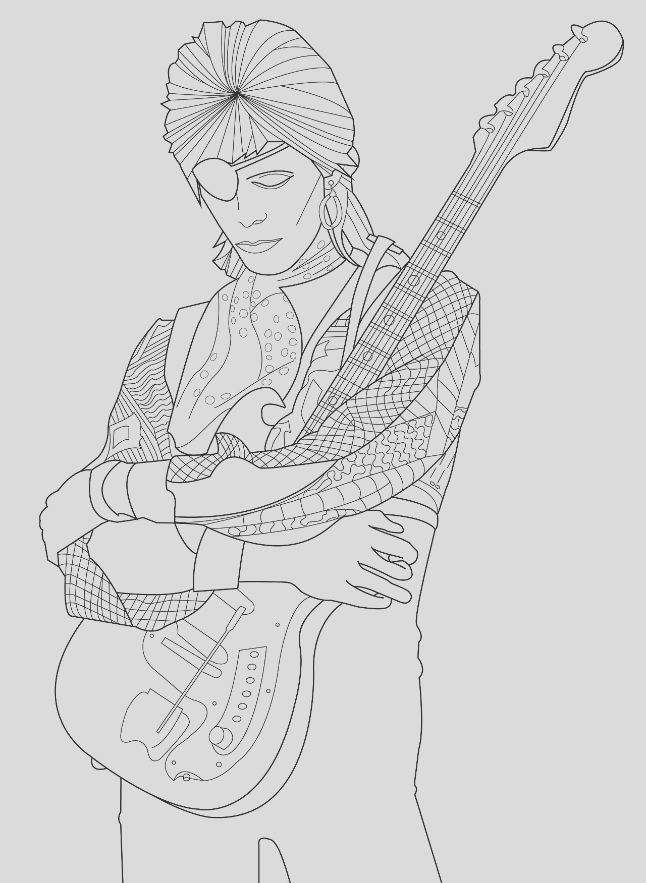supernatural coloring pages david bowie sketch templates