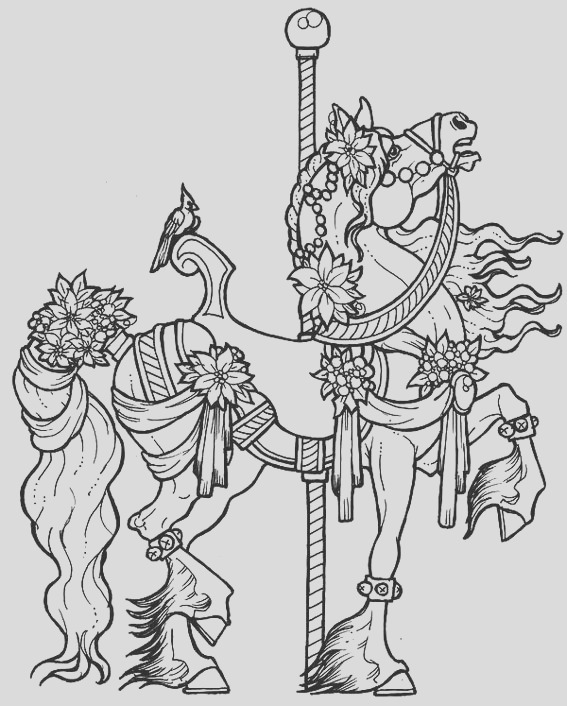 13 meticulously rendered carousel coloring pages boys girls