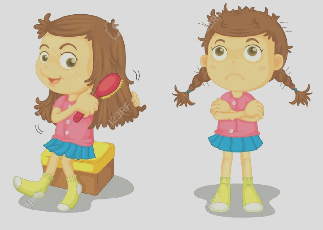 girl carrying dirty dish clipart