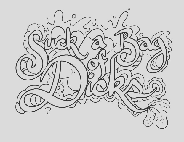 dirty word coloring pages