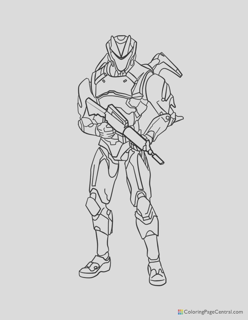 fortnite omega 02 coloring page