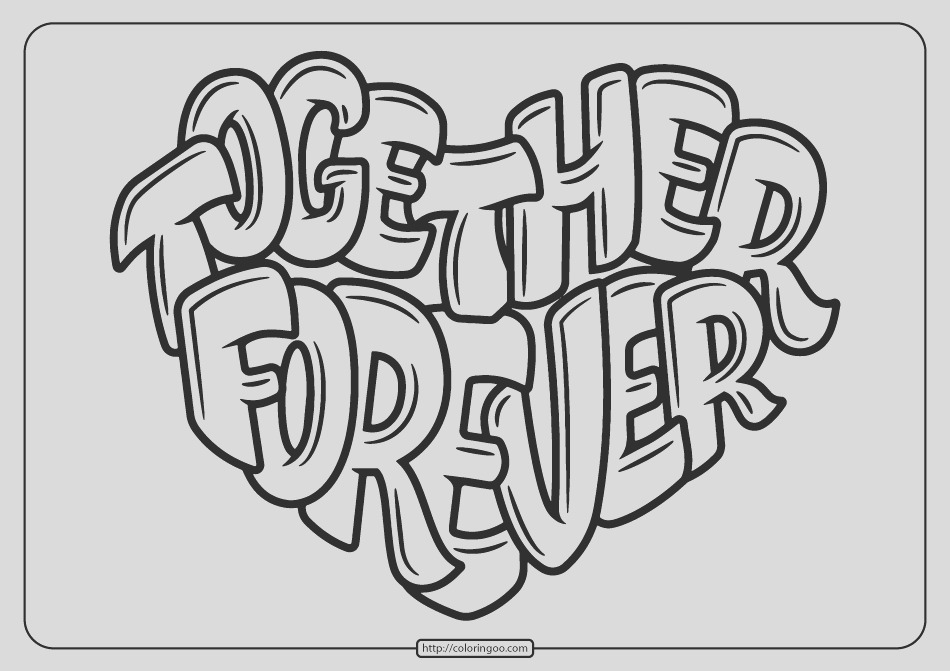 free printable to her forever pdf coloring page