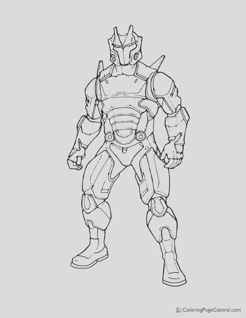 fortnite omega 01 coloring page