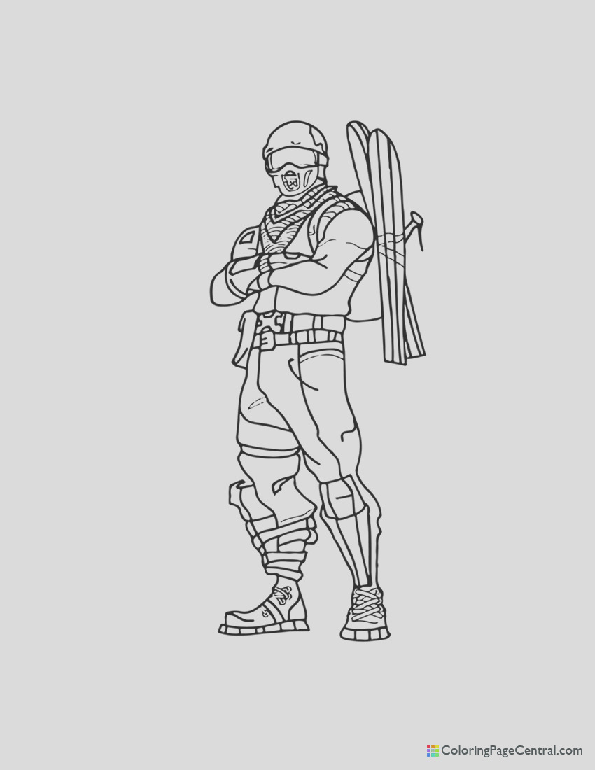 fortnite alpine ace coloring page